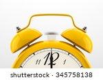 ringing alarm clock. yellow... | Shutterstock . vector #345758138