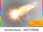 comet  meteor or fire on... | Shutterstock .eps vector #345759008