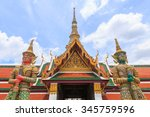 demon guardian in wat phra kaew ... | Shutterstock . vector #345759596
