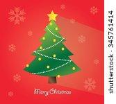 christmas tree | Shutterstock .eps vector #345761414
