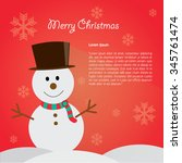snowman background vector... | Shutterstock .eps vector #345761474