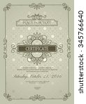 classic certificate of... | Shutterstock .eps vector #345766640