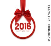 happy new year 2016 round... | Shutterstock .eps vector #345767966