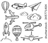 air icon set | Shutterstock . vector #345771404