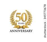 50 years anniversary wreath... | Shutterstock .eps vector #345773678
