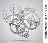 Gear Wheels Of Clockwork In...