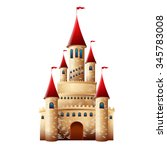medieval castle | Shutterstock . vector #345783008