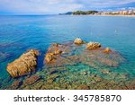 lloret de mar beach of costa... | Shutterstock . vector #345785870