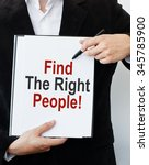 find the right people   | Shutterstock . vector #345785900