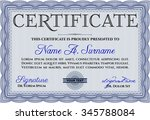 sample diploma. with quality... | Shutterstock .eps vector #345788084
