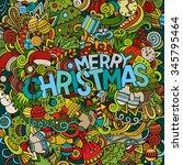 merry christmas hand lettering... | Shutterstock .eps vector #345795464