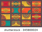 set of business cards in indian ... | Shutterstock .eps vector #345800024