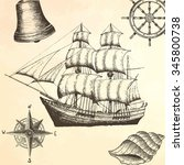 Vintage Ship. Items On The...