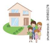 family home | Shutterstock .eps vector #345802178