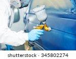 automobile repairman painter... | Shutterstock . vector #345802274
