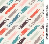 abstract retro pattern  seamless   Shutterstock .eps vector #345804533
