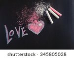 the inscription in chalk on a...   Shutterstock . vector #345805028
