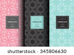 vector set of design elements... | Shutterstock .eps vector #345806630