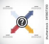 question mark with answers  ... | Shutterstock .eps vector #345807350