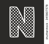 N Vector Alphabet Letter With...