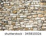 brick stone wall texture. | Shutterstock . vector #345810326