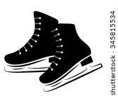 figure skates flat vector icon... | Shutterstock .eps vector #345815534