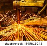spot welding machine industrial ... | Shutterstock . vector #345819248