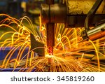 spot welding machine industrial ... | Shutterstock . vector #345819260