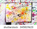 abstract watercolor paint... | Shutterstock . vector #345819623