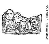 illustration vector doodle hand ... | Shutterstock .eps vector #345821723