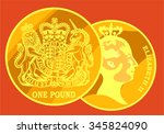 gold coin  the pound sterling....   Shutterstock .eps vector #345824090