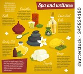 spa infographics with design... | Shutterstock .eps vector #345824180