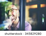 man positive thinking... | Shutterstock . vector #345829280