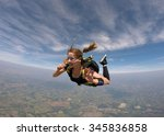 skydiving brave woman | Shutterstock . vector #345836858