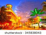miami beach  florida moving... | Shutterstock . vector #345838043
