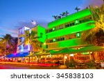miami beach  florida moving... | Shutterstock . vector #345838103
