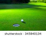 golf ball on a green lawn | Shutterstock . vector #345840134
