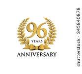 96 years anniversary wreath...   Shutterstock .eps vector #345840878