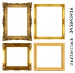 gold picture frame isolated on... | Shutterstock . vector #345843416