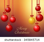 christmas background with... | Shutterstock .eps vector #345845714