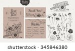 rustic style wedding collection.... | Shutterstock .eps vector #345846380