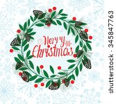 merry christmas blue background | Shutterstock .eps vector #345847763