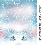 winter forest. winter landscape. | Shutterstock . vector #345849494