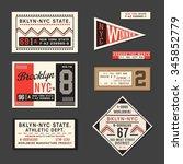 vintage labels athletic sport...   Shutterstock .eps vector #345852779