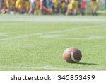 american football ball on the... | Shutterstock . vector #345853499