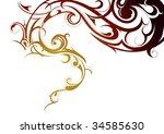 tribal smoke | Shutterstock .eps vector #34585630