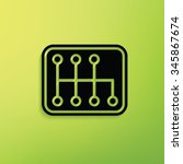 gear car on green background... | Shutterstock .eps vector #345867674