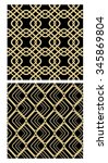 Golden Grid Seamless Decorativ...