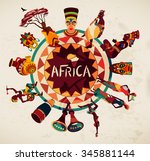 africa elements and icons... | Shutterstock .eps vector #345881144
