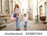 sale  consumerism and people... | Shutterstock . vector #345887444